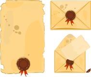Старый конверт Стоковое Изображение