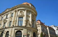 Старый конец архитектуры вверх, старый городок Бухареста Стоковое Изображение RF