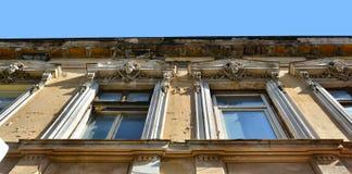 Старый конец архитектуры вверх, старый городок Бухареста Стоковые Изображения