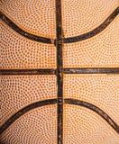 Старый конец баскетбола вверх стоковая фотография