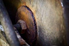 Старый конец детали жернова вверх Стоковая Фотография RF