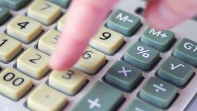 Старый конец калькулятора вверх акции видеоматериалы