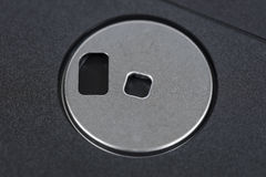 Старый конец макроса гибкого магнитного диска вверх Стоковые Изображения