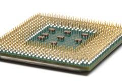 Старый конец C.P.U. компьютера вверх по съемке Стоковые Изображения RF