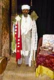 Старый коптский священник горд представить его церковь Стоковые Изображения RF
