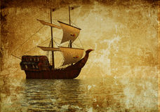 старый корабль Стоковое Фото