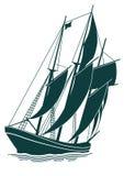 старый корабль sailing иллюстрация вектора