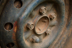 Старый корабль автомобиля колеса сплава металла Стоковые Изображения