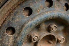 Старый корабль автомобиля колеса сплава металла Стоковая Фотография