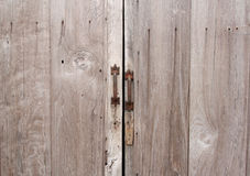 Старый коричневый цвет дома с коричневой стеной двери и древесины Стоковые Изображения RF