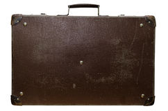 Старый коричневый чемодан Стоковая Фотография RF