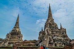 Старый королевский дворец в Ayutthaya Таиланде Стоковые Фото