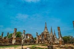 Старый королевский дворец в Ayutthaya Таиланде Стоковое Фото