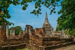 Старый королевский дворец в Ayutthaya Таиланде Стоковое фото RF