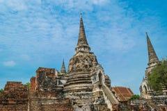 Старый королевский дворец в Ayutthaya Таиланде Стоковая Фотография RF