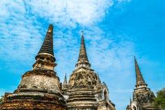 Старый королевский дворец в Ayutthaya Таиланде Стоковое Изображение RF