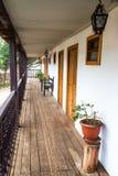 Старый колониальный балкон Стоковое Фото