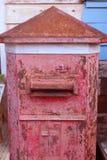 Старый красный столб Стоковая Фотография RF