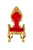 Старый красный стул Стоковые Фото