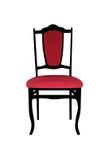 Старый красный стул Стоковое Фото