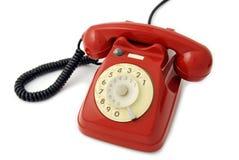 старый красный телефон Стоковое фото RF