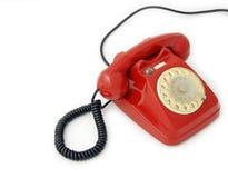 старый красный телефон Стоковая Фотография RF