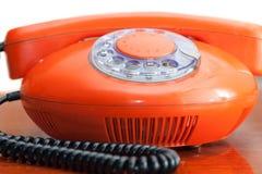 старый красный цвет телефона Стоковое фото RF