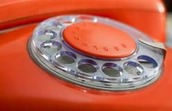 старый красный цвет телефона Стоковое Фото