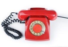 старый красный цвет телефона Стоковые Изображения