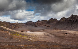 Старый кратер Стоковые Фотографии RF