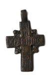 Старый крест на шеи Стоковая Фотография