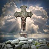 Старый крест. Стоковые Изображения