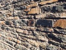 Старый крупный план текстуры камней Стоковая Фотография RF