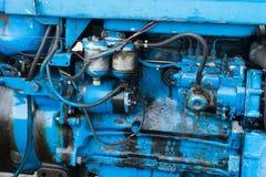 Старый крупный план двигателя Стоковое Изображение
