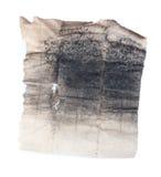 Старый кусок бумаги с пылью угля Стоковая Фотография