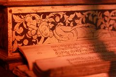 Старый кхмер на balan штофе тона цвета стоковая фотография rf