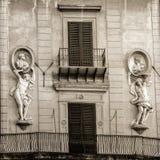 Старый классический дом Fasade Стоковое Изображение RF