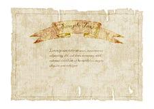 Старый клочковатый холст с знаменем также вектор иллюстрации притяжки corel Стоковое Фото
