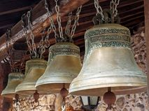 Старый латунный монастырь колоколы, македония, Греция Стоковое Изображение RF