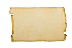 старый лист пергамента Стоковая Фотография