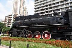Старый локомотив пара, ностальгия, полная времени стоковое фото rf
