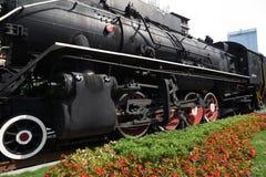 Старый локомотив пара, ностальгия, полная времени стоковые изображения rf