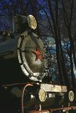 Старый локомотив с красной звездой Стоковая Фотография RF