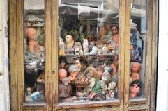 Старый магазин кукол в Риме Стоковое фото RF