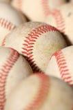 Старый макрос 2 бейсбола Стоковая Фотография
