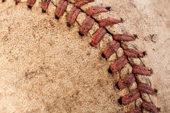 Старый макрос бейсбола Стоковая Фотография RF