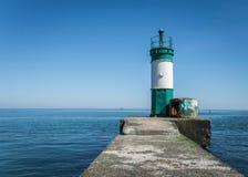 Старый маяк в порте груза Одессы Стоковые Изображения