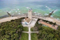 Старый маяк в Ilse Re Ile de Re в Франции стоковая фотография rf