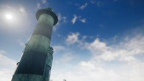 Старый маяк на восходе солнца на предпосылке моря перевод 3d бесплатная иллюстрация
