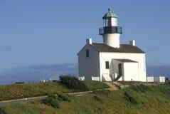 Старый маяк Loma пункта на национальном монументе Cabrillo в пункте Loma, Сан-Диего, CA Стоковое Фото